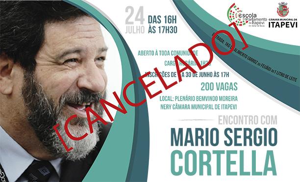 cartaz cortella cancelado