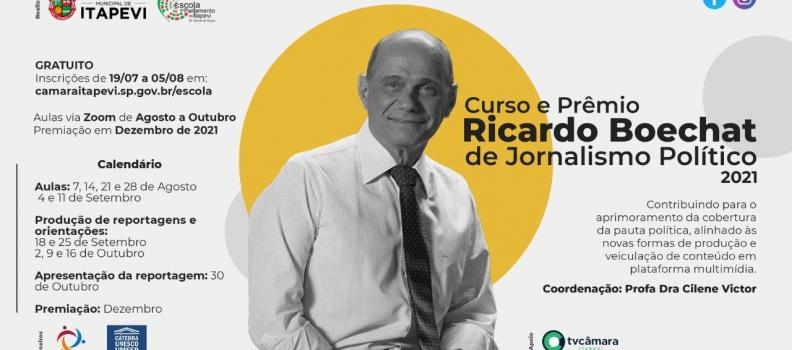 Inscrição para o Curso e Prêmio Ricardo Boechat 2021